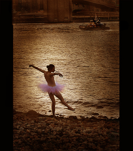 ballerina by the water