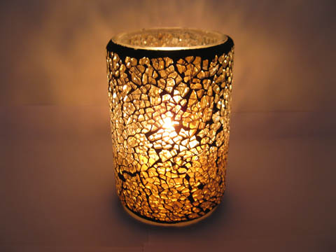 cracked glass votive